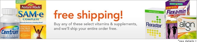 Free shipping on select vitamins & supplements. see details