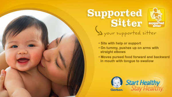gerber supported sitter