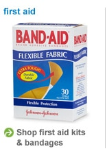 shop first aid kits and bandages