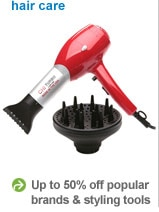 Up to 50% off popular brands and styling tools