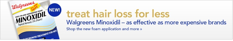 Walgreens Minoxidil is the smart choice for hair regrowth