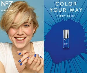 shop for Persian Blue, a Fiery Blue Nail Gel Finish
