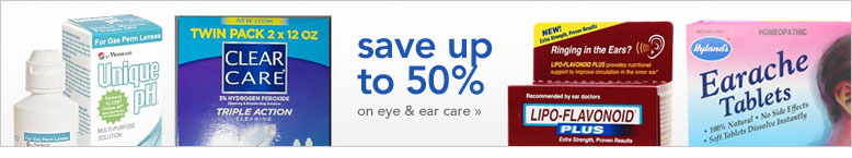 save up to 50 percent on eye and ear care
