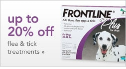 up to 20% off flea & tick treatments