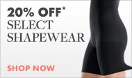 shop now for 20 percent off select shapewear