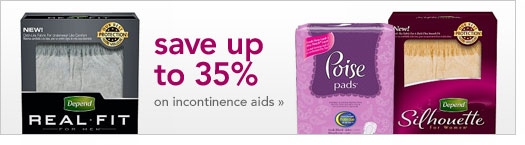 save up to 35 percent on incontinence aids