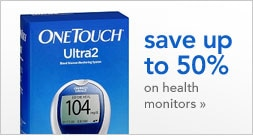 save up to 50 percent on health monitors