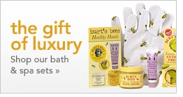 the gift of luxury - shop our bath & spa sets