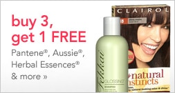 Buy 3 Procter and Gamble hair care products, and get one free
