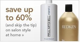 save up to 60% (and skip the tip) on salon style at home