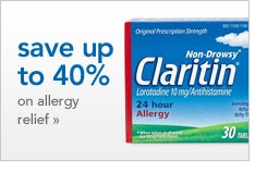 save up to 40% on allergy relief