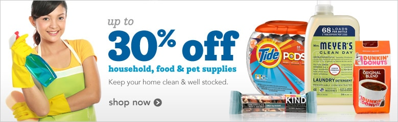 household, food and pet supplies