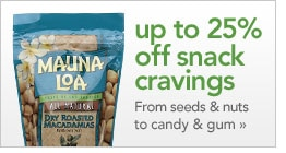 up to 25% off your snacks