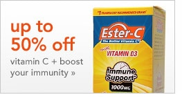 up to 50% off vitamin C