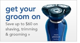 save up to $60 on shaving, trimming and grooming products