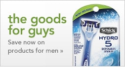 save on products for men