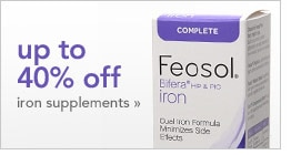 up to 40% off iron supplements