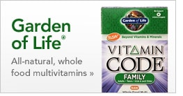 Garden of Life all-natural, whole food multivitamins