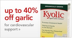 up to 40% off garlic for cardiovascular support