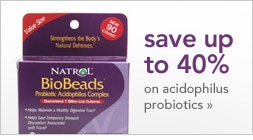 save up to 40% on acidophilus probiotics