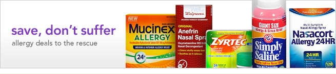 shop allergy and sinus special offers