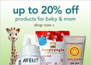 up to 20% off products for baby and mom