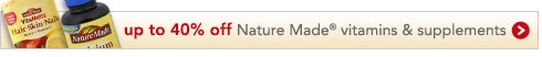 up to 40 percent off Nature Made
