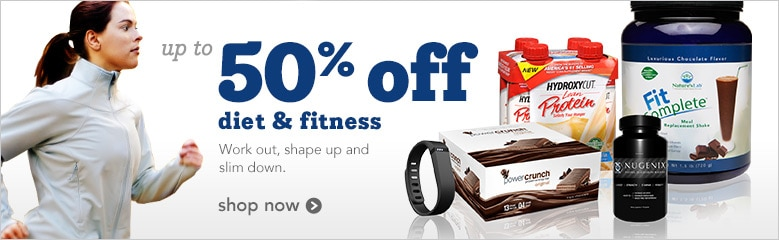 up to 50% off diet and fitness   Workout, shape up and slim down