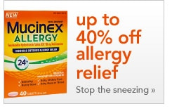 up to 40% off allergy relief