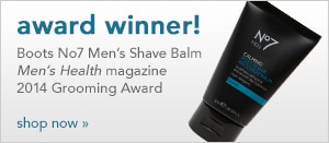 Boots No7 Men's Shave Balm Men's Health magazine 2014 Grooming Award winner