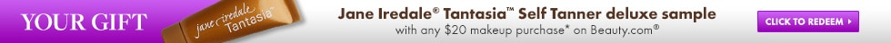 Free Jane Iredale Tantasia with $20 Beauty.com makeup purchase