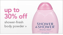 up to 30% off shower-fresh body powder