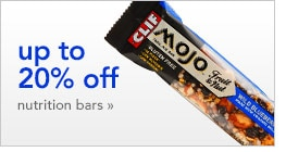 up to 20% off nutrition bars