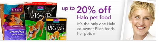 up to 20% off halo pet food
