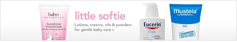 lotions, creams, oils and powders for gentle baby care
