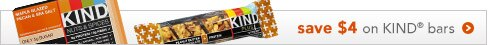 save $4 on KIND bars
