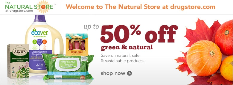 up to 50% off green and natural products