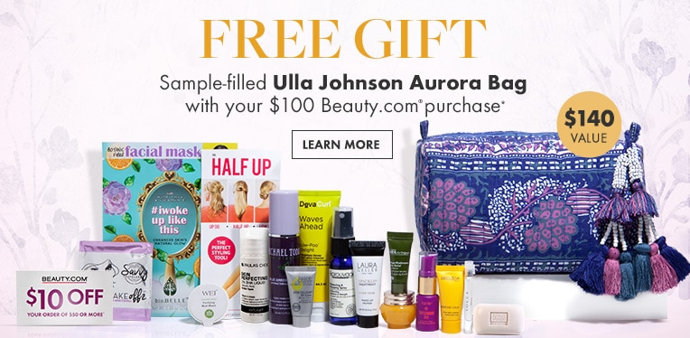 Free sample-filled Ulla Johnson Aurora Bag
