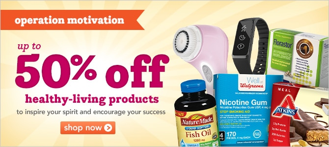 up to 50% off healthy-living products to inspire your spirit and encourage your success