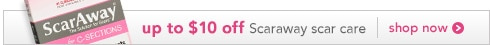 up to $10 off Scaraway scar care