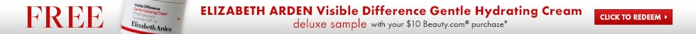 free Elizabeth Arden Visible Difference deluxe sample with in-stock Beauty.com purchase of $10 or more