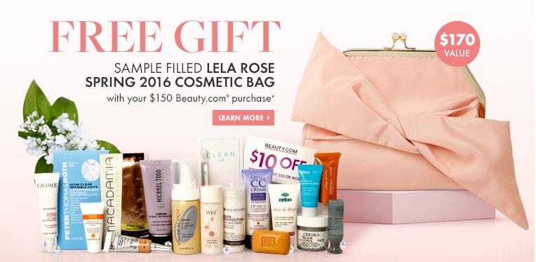 Lela Rose sample-filled bag