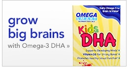 grow big brains with Omega-3 DHA