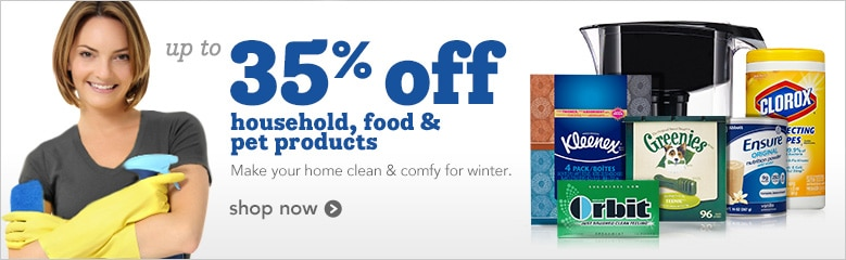 up to 35% off household, food and pet products | make your home clean & comfy for winter