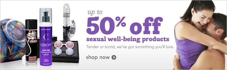 up to 50% off sexual well being products