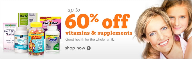 Up to 60% off Vitamins and Supplements | sustain good health for the whole family