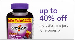 up to 40% off multivitamins just for women