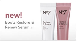 new! Boots Restore & Renew Serum