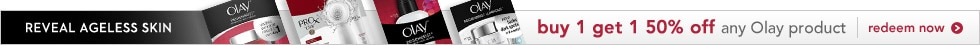 reveal ageless skin, buy 1 get 1 50% off any Olay product, redeem now