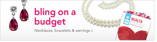 bling on a budget, necklaces, bracelets and earrings